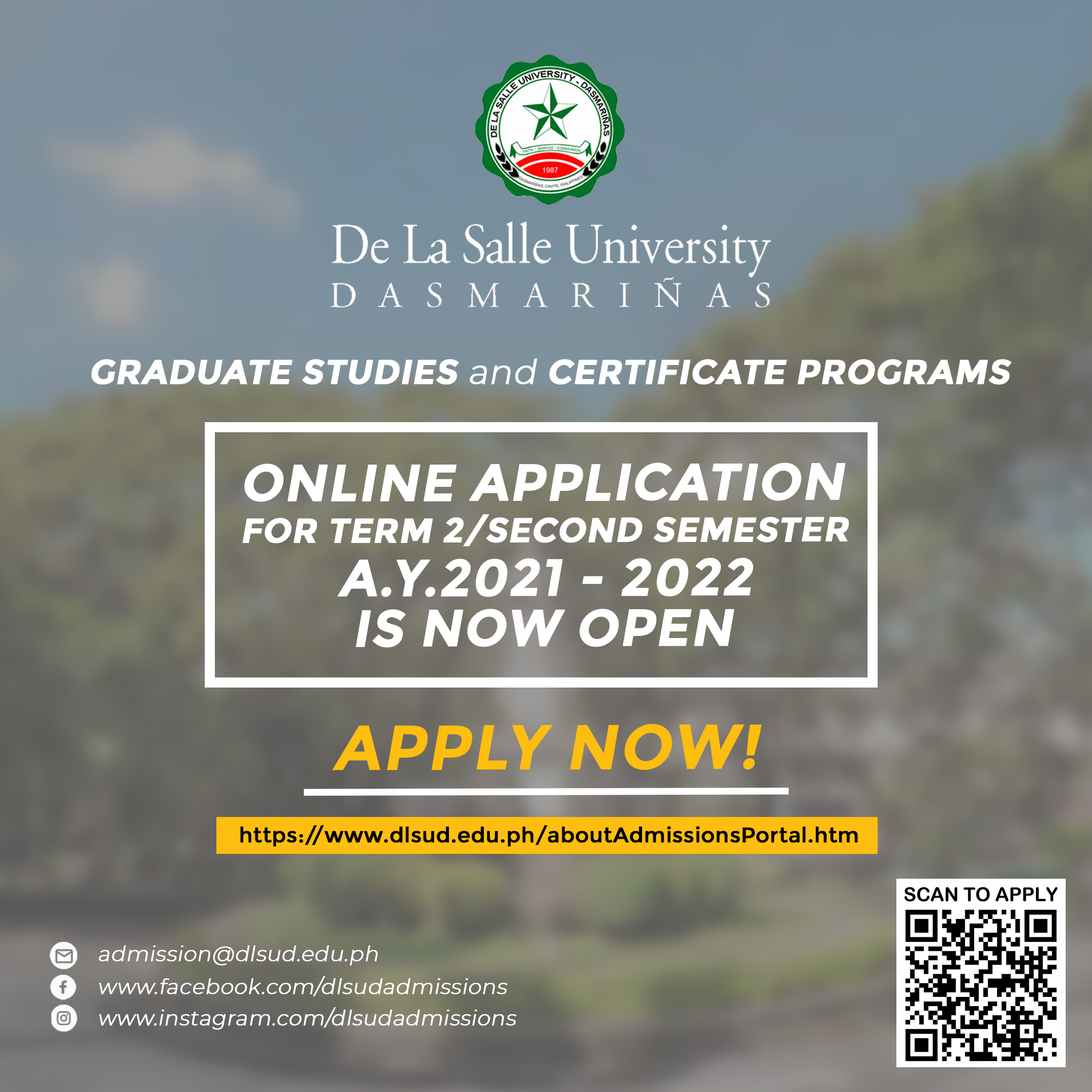 DLSU-D accepts application