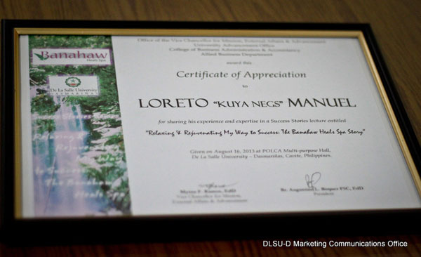 Success Stories Series Relaxing rejuvenating my way to success The Banahaw Heal Spa Story Mr. Loreto Kuya Negs Manuel