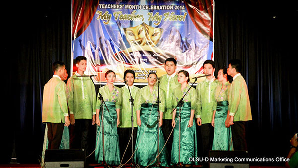 DLSU-D teachers' month celebration (My Teacher, My Hero)