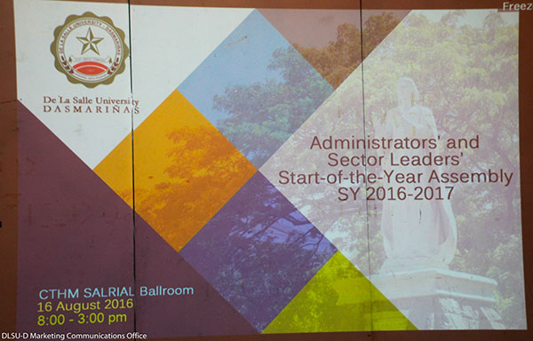 Administrators' and Sectors' Leaders Start-of-the-Year Assembly S.Y. 2016-2017