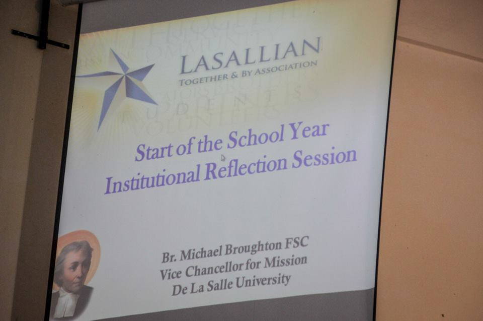 Institutional Reflection Session with Br. Michael Broughton FSC