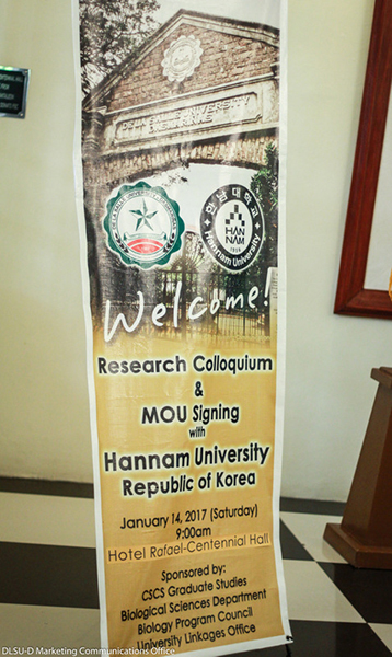 Research Colloquium & MOU signing with Hannam University