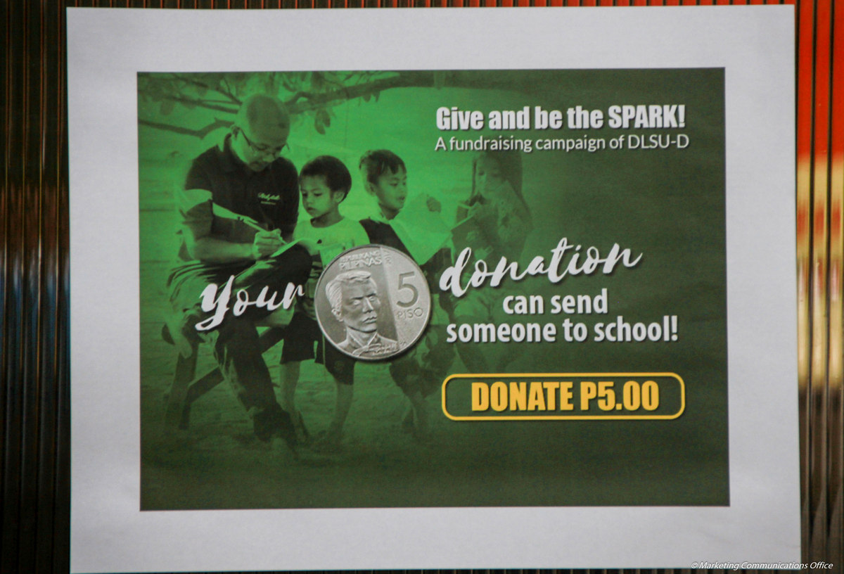 Give and be the SPARK (A Fundraising Campaign of DLSU-D)