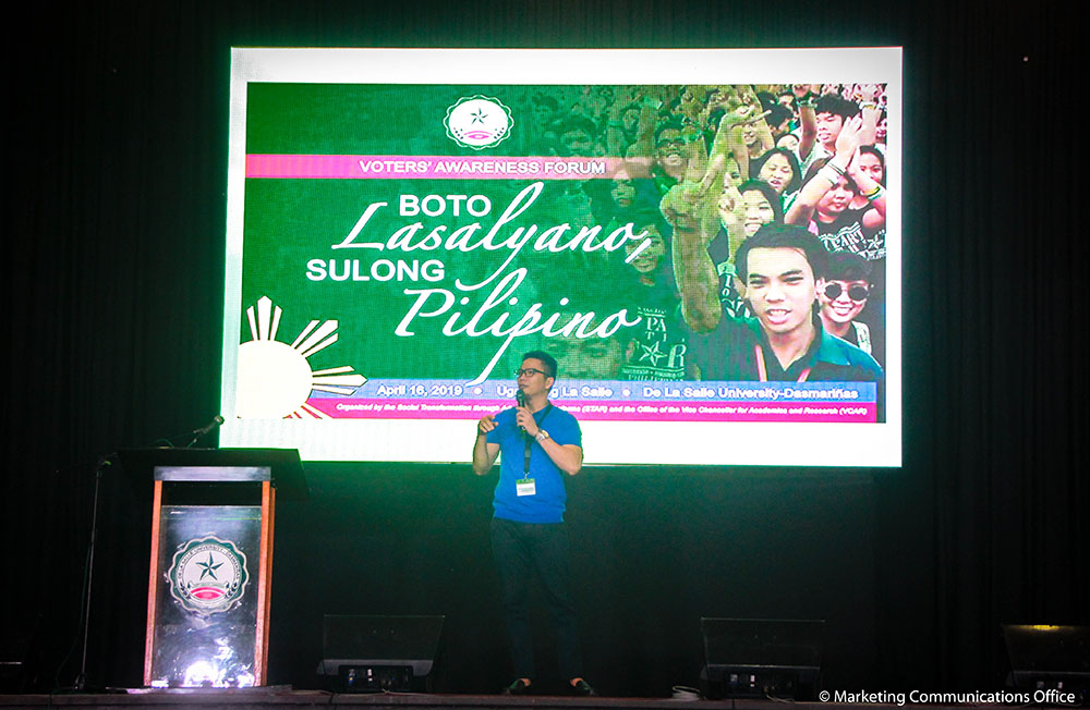 Boto Lasalyano, Sulong Pilipino (Voters' Awareness Forum)