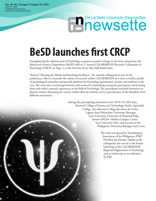 BeSD launches first CRCP