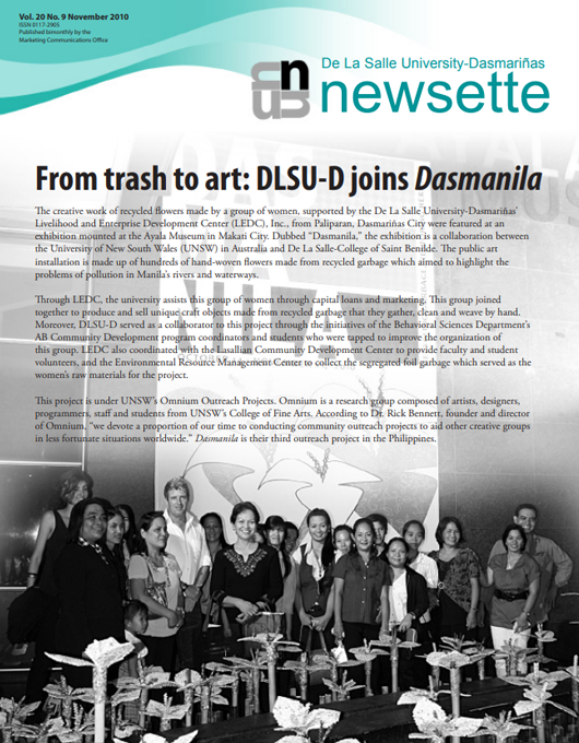 From trash to art: DLSU-D joins Dasmanila