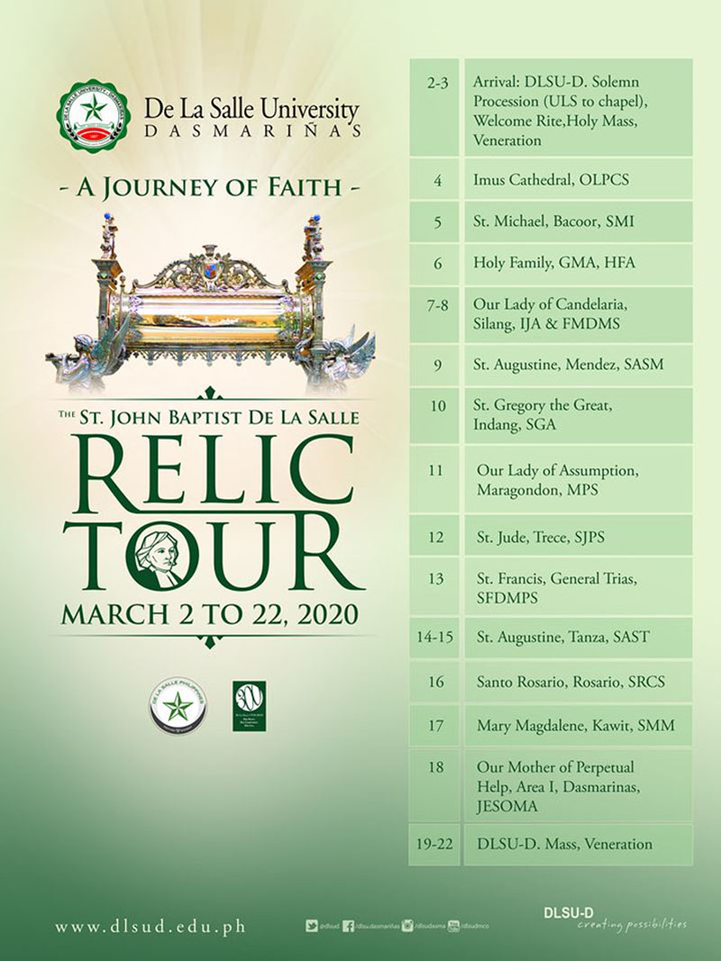 Relic Tour from March 2 to 23