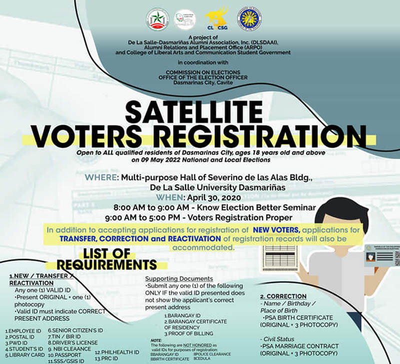Satellite Voters' Registration and Seminar